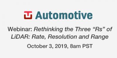 TU Automotive Webinar October 3, 2019