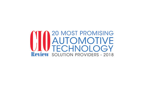CIO Review Award Winner – 20 Most Promising Automotive Technology Solution Providers 2018