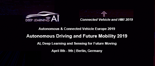 Autonomous And Connected Vehicle Europe – April 8-9, 2019