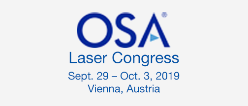 OSA Laser Conference – Sept. 29 – Oct. 3, 2019