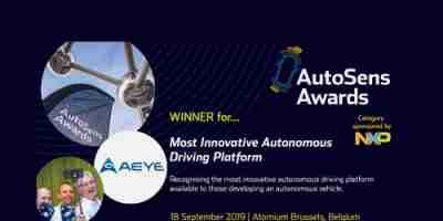 AutoSens Brussels Award 2019