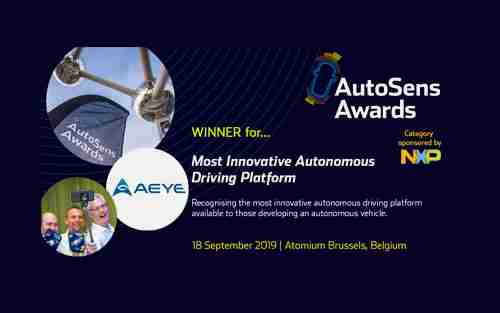 AutoSens Brussels – Most Innovative Autonomous Driving Platform