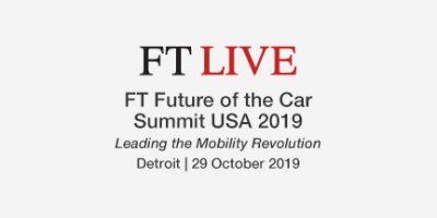 FT Future Of The Car Summit USA 2019 Leading The Mobility Revolution