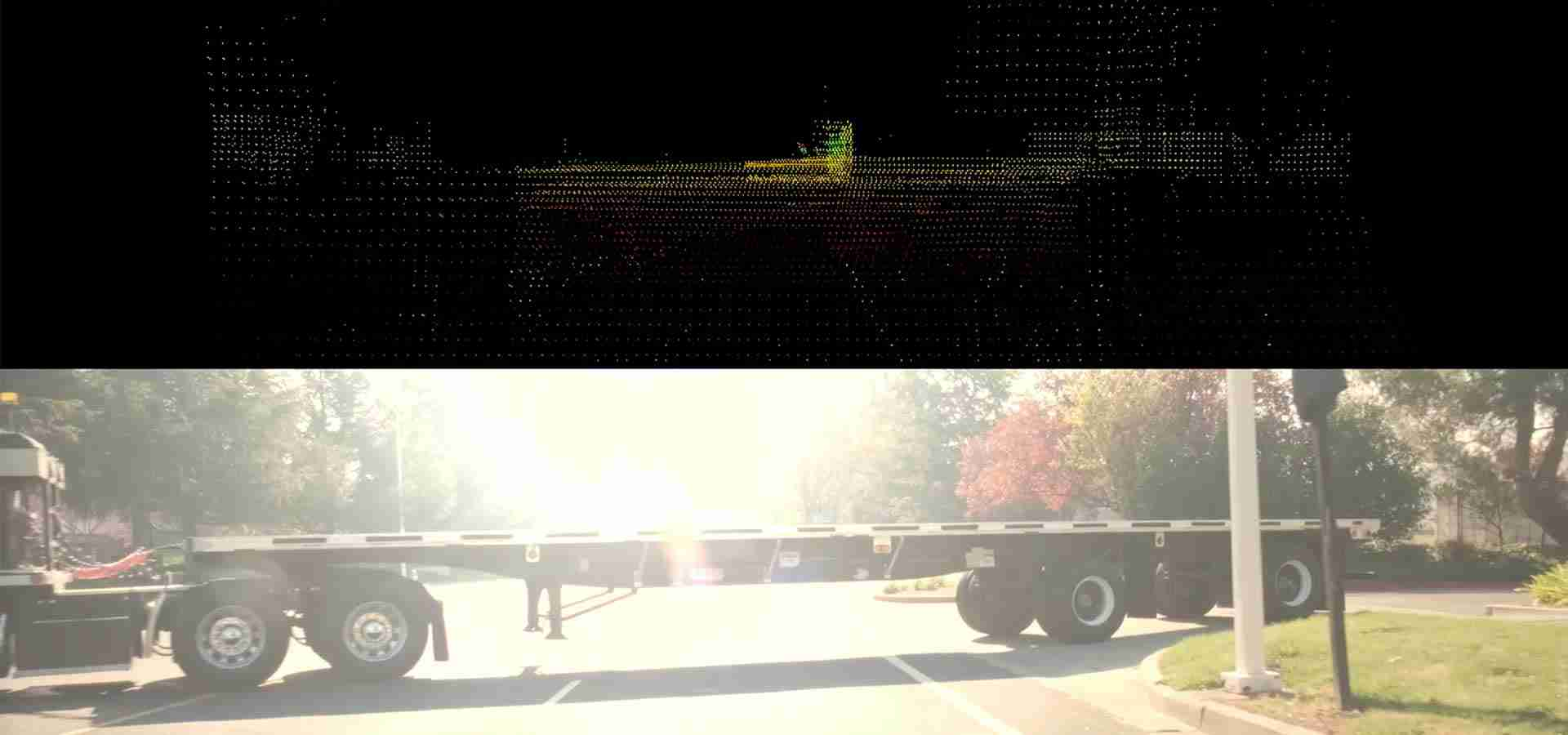 Flatbed Truck Crossing Intersection