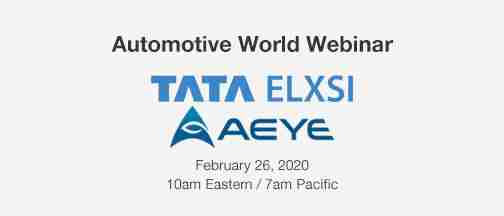 Automotive World: Webinar – February 26, 2020