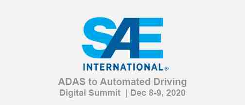 SAE ADAS To Automated Driving Digital Summit December 2020