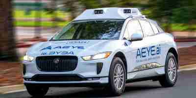 AEye Jaguar Self-Driving Car With IDAR Intelligent LiDAR