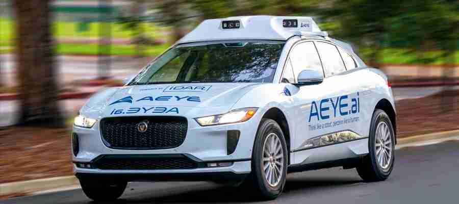 AEye Jaguar Self-Driving Car With IDAR Intelligent LiDAR